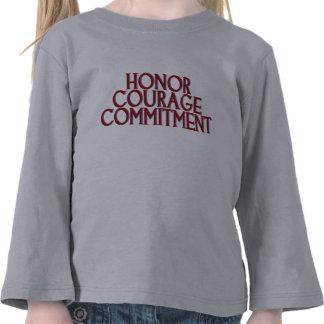 Compromiso del valor del honor camisetas