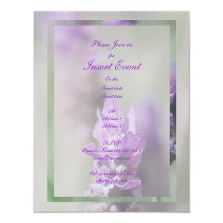 """Compromiso elegante del boda de la flor de la invitación 4.25"""" x 5.5"""""""