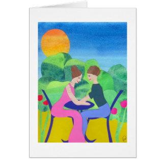 Compromiso feliz tarjeta
