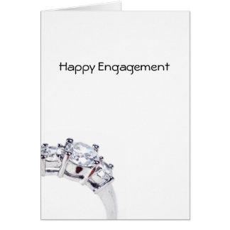 Compromiso feliz tarjeta de felicitación