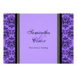 Compromiso negro púrpura del boda del damasco anuncios personalizados