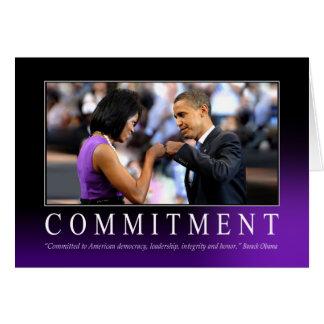 Compromiso (topetón del puño de Obama) Tarjeta De Felicitación