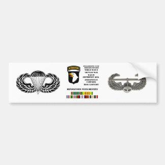 Compromisos de la 101a división aerotransportada etiqueta de parachoque