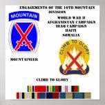 Compromisos de la 10ma división de la montaña posters