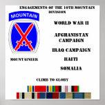 Compromisos de la 10ma división de la montaña poster