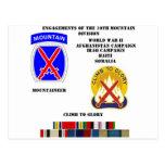 Compromisos de la 10ma división de la montaña postal