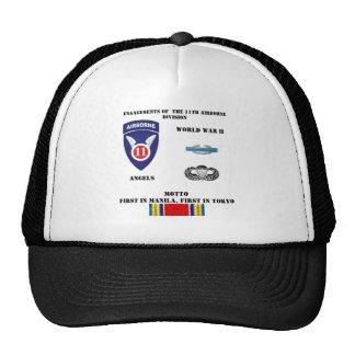 Compromisos de la 11ma división aerotransportada gorra