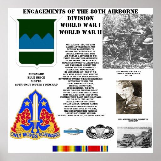 Compromisos de la 80.a división aerotransportada póster