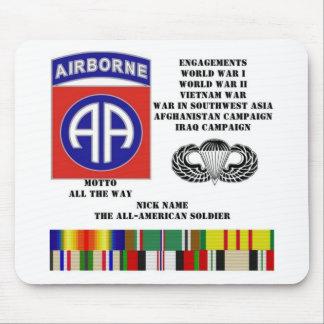 Compromisos de la 82 a división aerotransportada tapetes de ratón