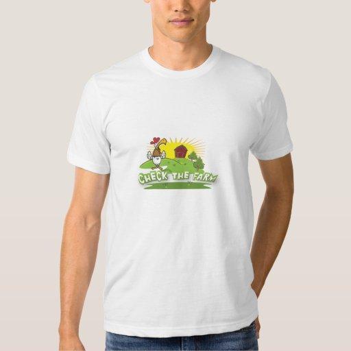 compruebe el logotipo de la granja polera