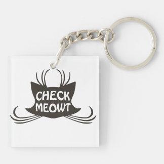 Compruebe el maullido del gato del gatito de Meowt Llaveros