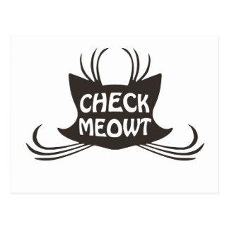 Compruebe el maullido del gato del gatito de Meowt Tarjetas Postales