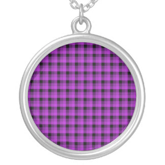 Compruebe el modelo. Púrpura y negro Colgante Redondo