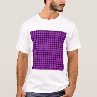 Compruebe el modelo. Púrpura y negro Playera