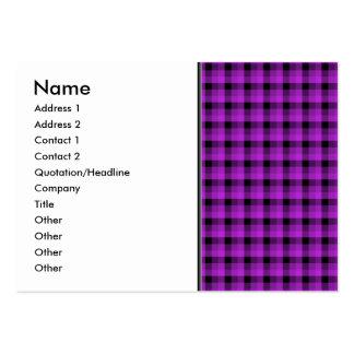 Compruebe el modelo. Púrpura y negro Tarjetas De Visita Grandes