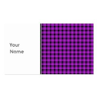 Compruebe el modelo. Púrpura y negro Tarjetas De Visita