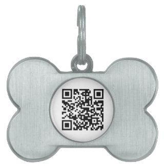 Compruebe este código de QR Placa De Mascota