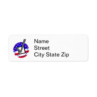 Compruebe hacia fuera a los candidatos - y vote etiquetas de remite