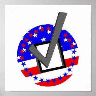Compruebe hacia fuera a los candidatos - y vote póster