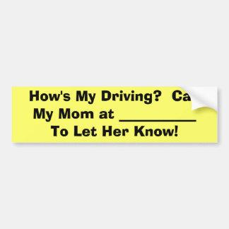 ¡Compruebe hacia fuera a mi mamá de conducción! Pegatina Para Auto