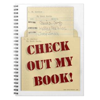 Compruebe hacia fuera mi logotipo del autor del cuadernos