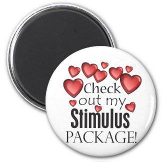 Compruebe hacia fuera mi paquete de estímulo imán redondo 5 cm