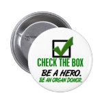 Compruebe la caja sea un donante de órganos 1 pin
