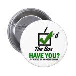 Compruebe la caja sea un donante de órganos 2 pin
