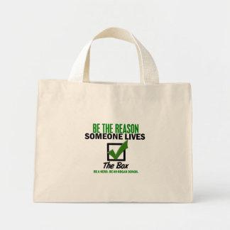 Compruebe la caja sea un donante de órganos 4 bolsas de mano