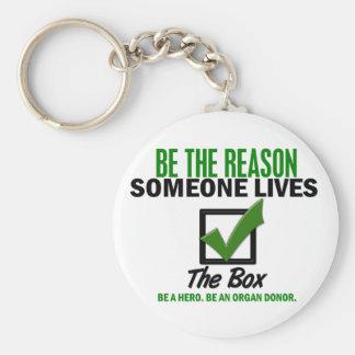 Compruebe la caja sea un donante de órganos 4 llavero redondo tipo pin