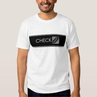 Compruebe la camiseta del compañero playera