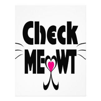 Compruebe la cara adorable del gato de Meowt Membrete