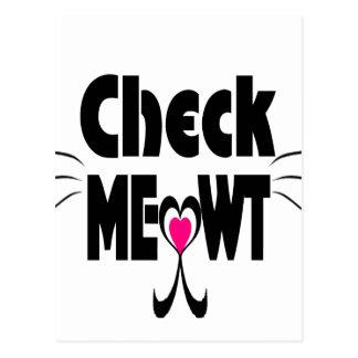 Compruebe la cara adorable del gato de Meowt Postal