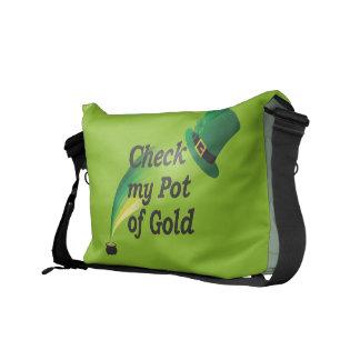 Compruebe la mi bolsa de mensajero de la mina de o bolsas de mensajeria
