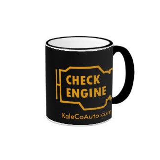 Compruebe la taza del motor
