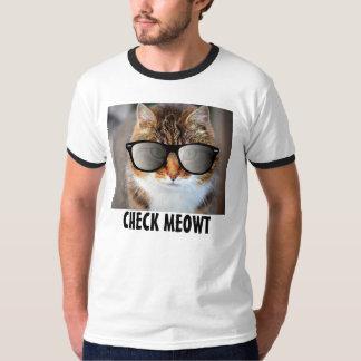 Compruebe Meowt, camisetas divertidas del gato Remera