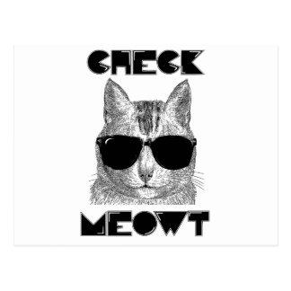 Compruebe Meowt -- Humor del gato Postales