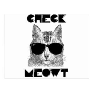 Compruebe Meowt -- Humor del gato Tarjeta Postal