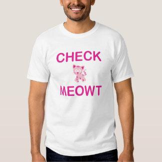 Compruebe Meowt Playeras