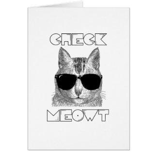 Compruebe Meowt Tarjeta De Felicitación