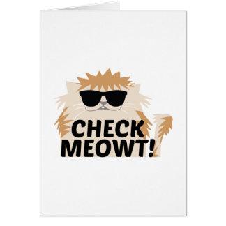 ¡Compruebe Meowt! Tarjeta De Felicitación