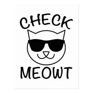 ¡Compruebe Meowt! Postales