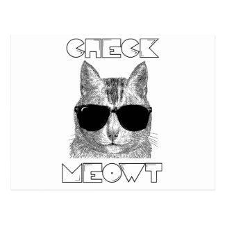 Compruebe Meowt Tarjeta Postal