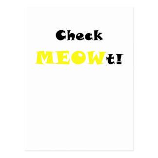 Compruebe Meowt Postal