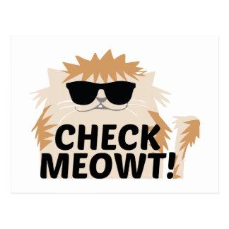 ¡Compruebe Meowt! Tarjeta Postal