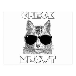 Compruebe Meowt Postales