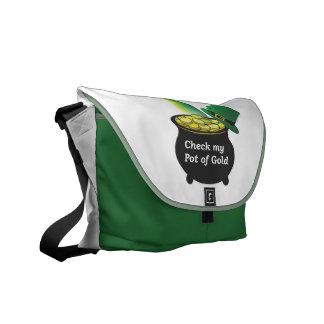 Compruebe mi bolso de la mina de oro bolsa messenger