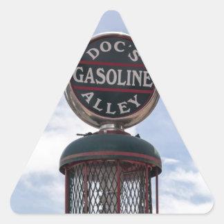 ¿Compruebe su aceite? Pegatina Triangular