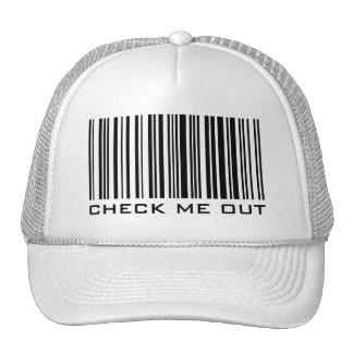 Compruébeme hacia fuera - gorra del código de barr