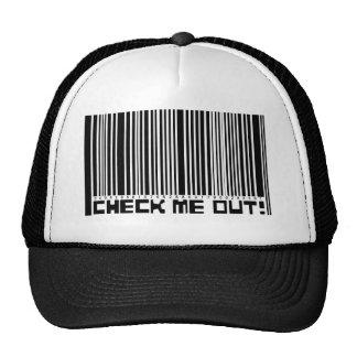 Compruébeme hacia fuera gorra del código de barras
